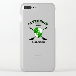 Slytherin Quidditch Team Clear iPhone Case
