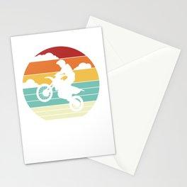 Motocross Bike Retro Motorsport Off Road Race Cool Stationery Cards