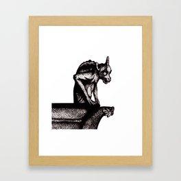 Black Gargoyle Framed Art Print