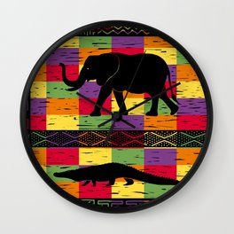 African inspired mash-up Wall Clock