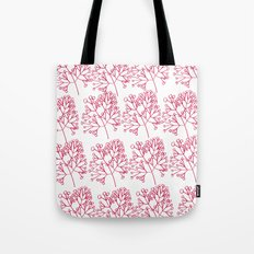 branches red graphic nordic minimal Tote Bag