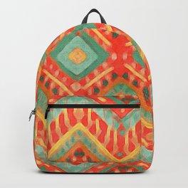 itzel - orange + green Backpack