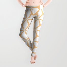 Geometric Petals Yellow Leggings