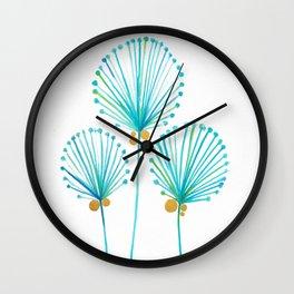 Golden Coconut Tree Wall Clock