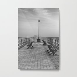 Swanage Jetty in Mono Metal Print