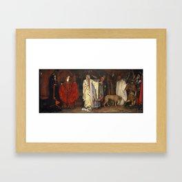 King Lear: Cordelia's Farewell, Act I, Scene I by Edwin Austin Abbey Framed Art Print