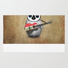 Baby Penguin Playing Iraqi Flag Acoustic Guitar Rug