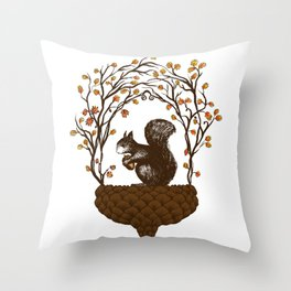 Once upon an Acorn Throw Pillow