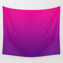 Neon Pink Purple Ultra Violet Pattern Wall Tapestry