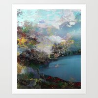 tchmo Art Prints featuring Untitled 20120315e (Landscape) by tchmo
