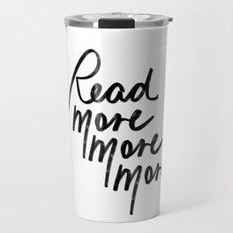 Read More More More | White Travel Mug