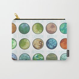 Planets Pattern Carry-All Pouch