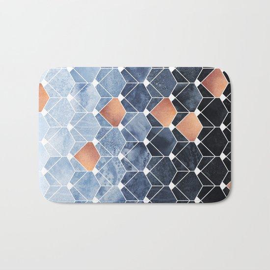 Copper Diamonds Bath Mat