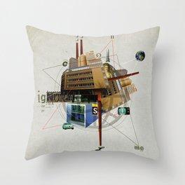 Collage City Mix 1 Throw Pillow
