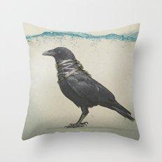 Raven Band Throw Pillow
