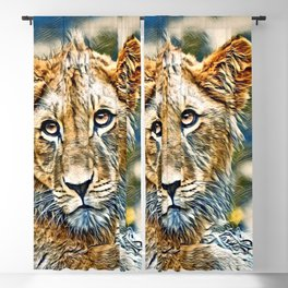 AnimalMix_Lion_005_by_JAMColors Blackout Curtain