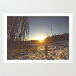 Dawn Hiking Art Print