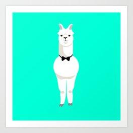 Bowtie Alpaca Art Print