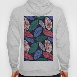 Colorful abstract leaves pattern Hoody