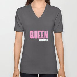 Queen Barista Unisex V-Neck