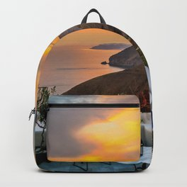 Gorgeous Santorini b Backpack