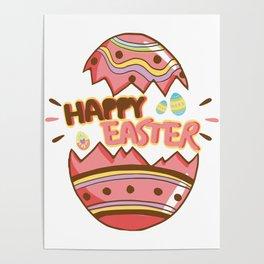 Easter Egg Hunt Happy Easter Cute Kids Women Men Gifts Poster