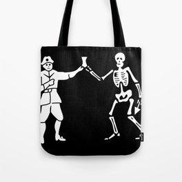Bartholomew Roberts Pirate Flag Jolly Roger Skeleton Tote Bag