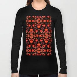 Fiesta Folk Red #society6 #folk Long Sleeve T-shirt