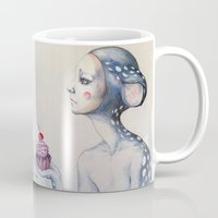 once upon a  time Mugs featuring Once upon a time... by Zina Nedelcheva