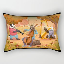 Musician animals in the wood Rectangular Pillow