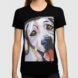 Yellow Lab Labrador Retriever Dog Portrait Pop Art painting by Lea T-shirt