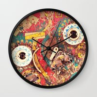 wizard Wall Clocks featuring Pinball Wizard by Shaun Lowe