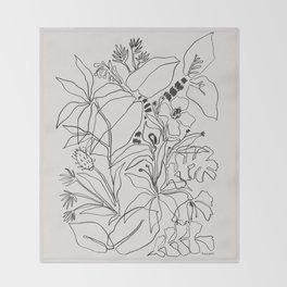Charcoal Tropics Throw Blanket