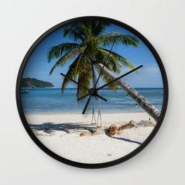 swing into paradise Wall Clock
