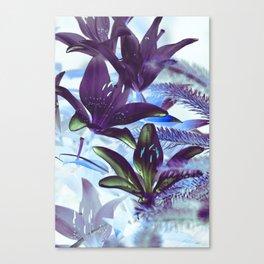 Moonlight Lillies Canvas Print