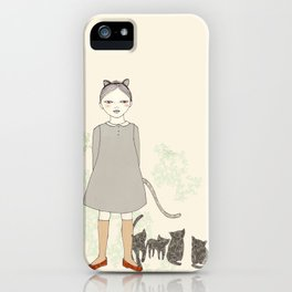 Cat Girl iPhone Case