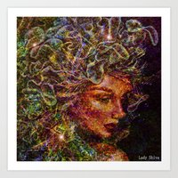 medusa Art Prints featuring Medusa.... by shiva camille