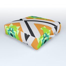 Tropical diamonds Outdoor Floor Cushion