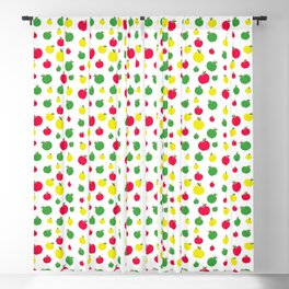 Apple Seamless Pattern Blackout Curtain