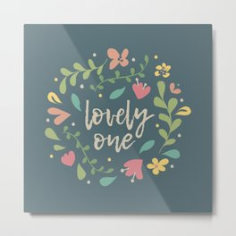 Lovely One Florals Metal Print