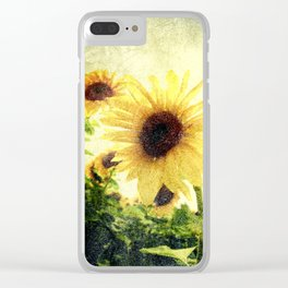 Sunflower Art 1 Clear iPhone Case