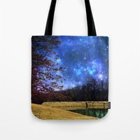 battlestar galactica Tote Bags featuring Reservoir Galactica  by DeLayne