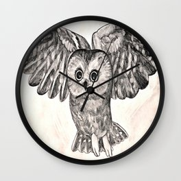 Saw Whet Owl Wall Clock
