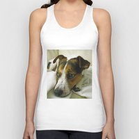 jack russell Tank Tops featuring jack russell by Brmbrmba27