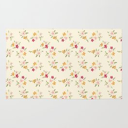 Wes Anderson Inspired Floral Bouquets Rug