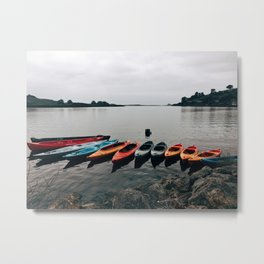 Kayaks in Jenner Metal Print