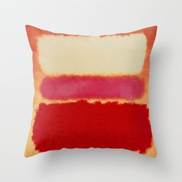 ROTHKO-WHITE CLOUD OVER RED Throw Pillow