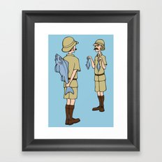 Fish Slapping Dance Framed Art Print