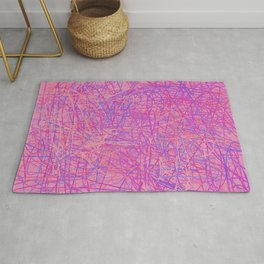 Scribble Bright Pink & Purple Abstract Rug
