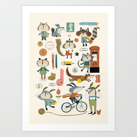 everybody likes nice post Art Print